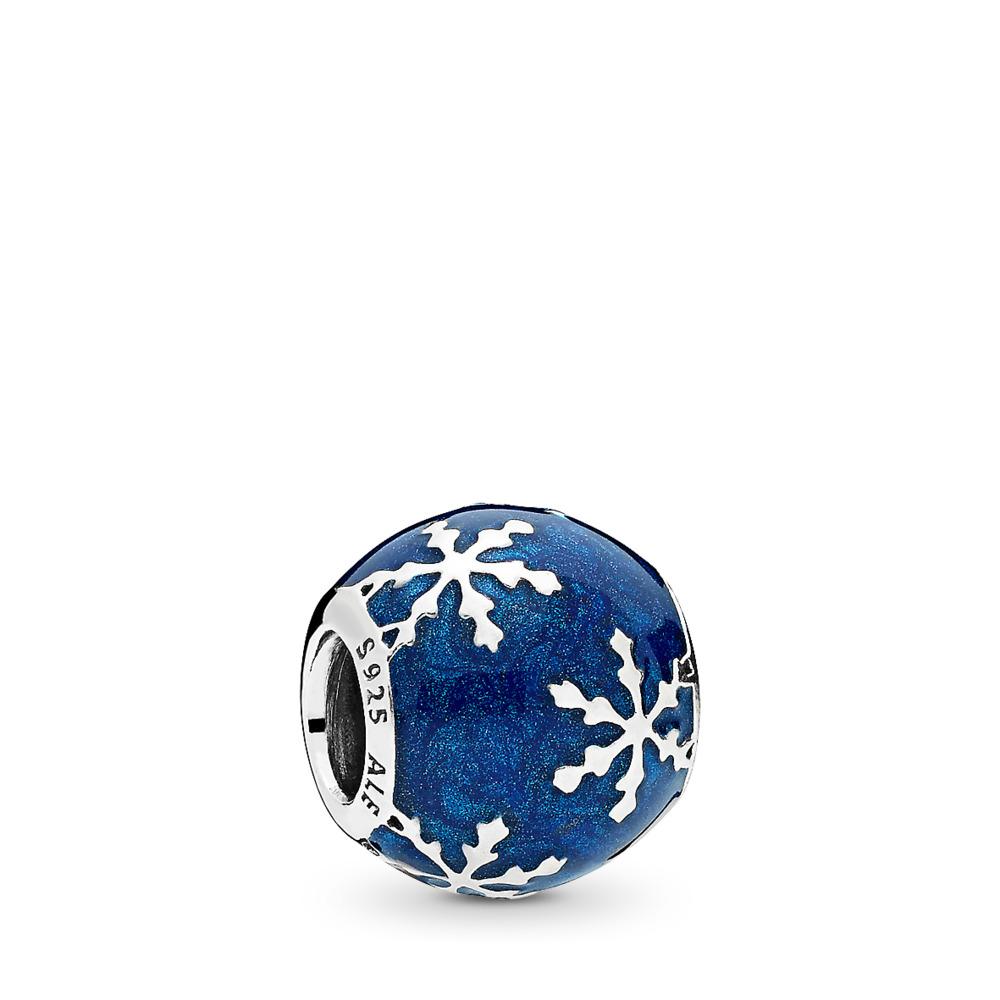Charm Délice hivernal, émail bleu de minuit, Argent sterling, émail, Bleu, Aucune pierre - PANDORA - #796357EN63