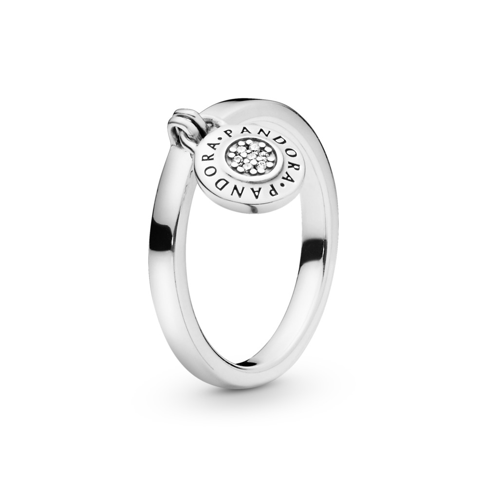 PANDORA Signature Ring, Clear CZ, Sterling silver, Cubic Zirconia - PANDORA - #197400CZ