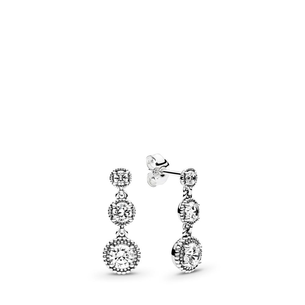 Eternal Elegance, Clear CZ, Sterling silver, Cubic Zirconia - PANDORA - #290742CZ