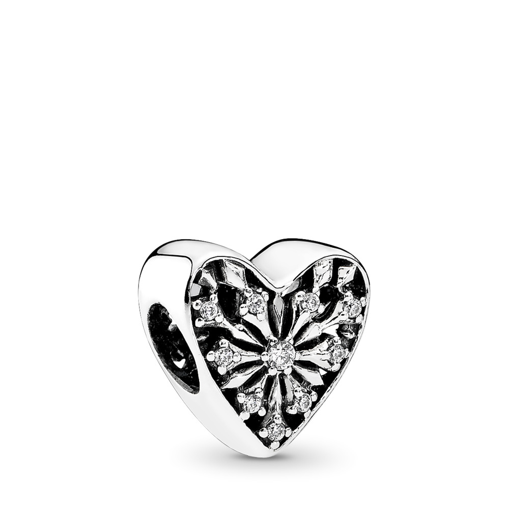 Heart of Winter, Clear CZ, Sterling silver, Cubic Zirconia - PANDORA - #791996CZ