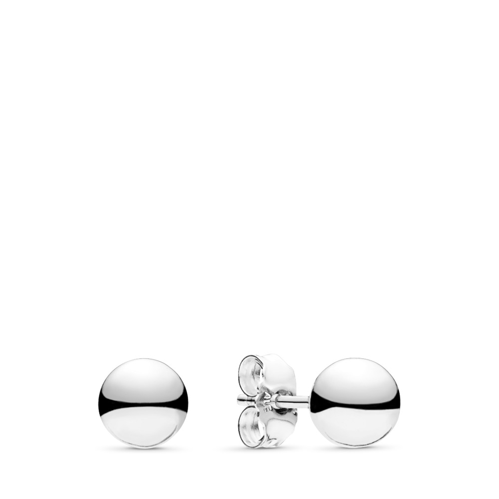 Classic Beads Stud Earrings, Sterling silver - PANDORA - #297568