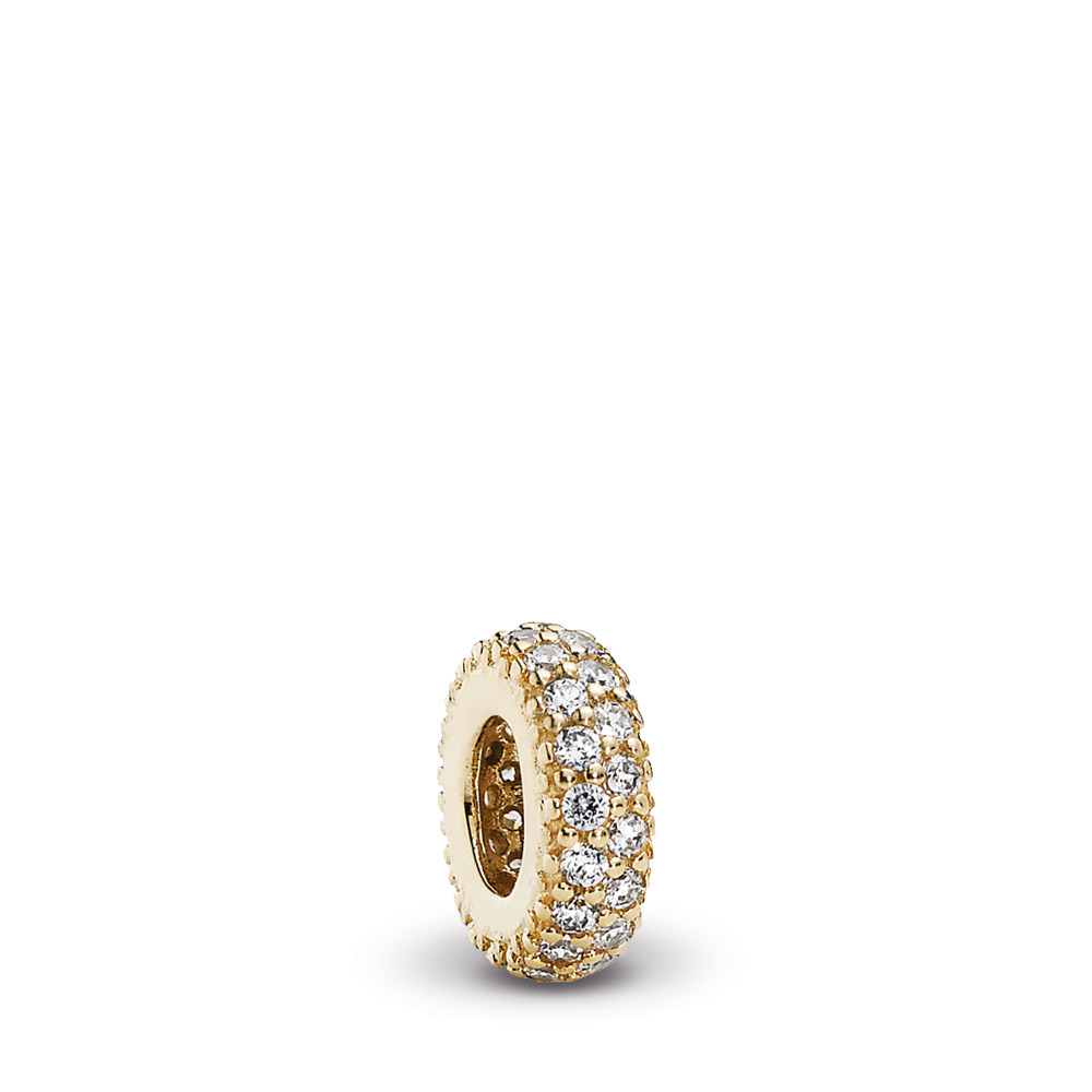 Inspiration Within Spacer, 14K Gold & CZ, Yellow Gold 14 k, Cubic Zirconia - PANDORA - #750835CZ