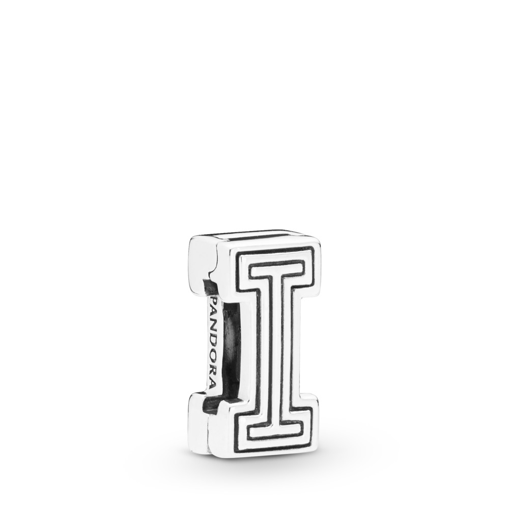 Pandora Reflexions™ Letter I Charm, Sterling silver, Silicone - PANDORA - #798205