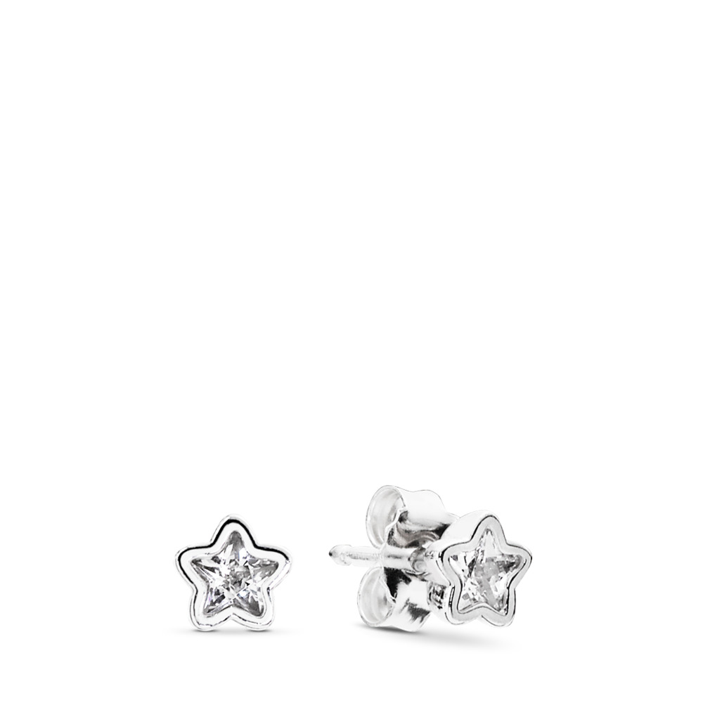 Starshine, Clear CZ, Sterling silver, Cubic Zirconia - PANDORA - #290597CZ