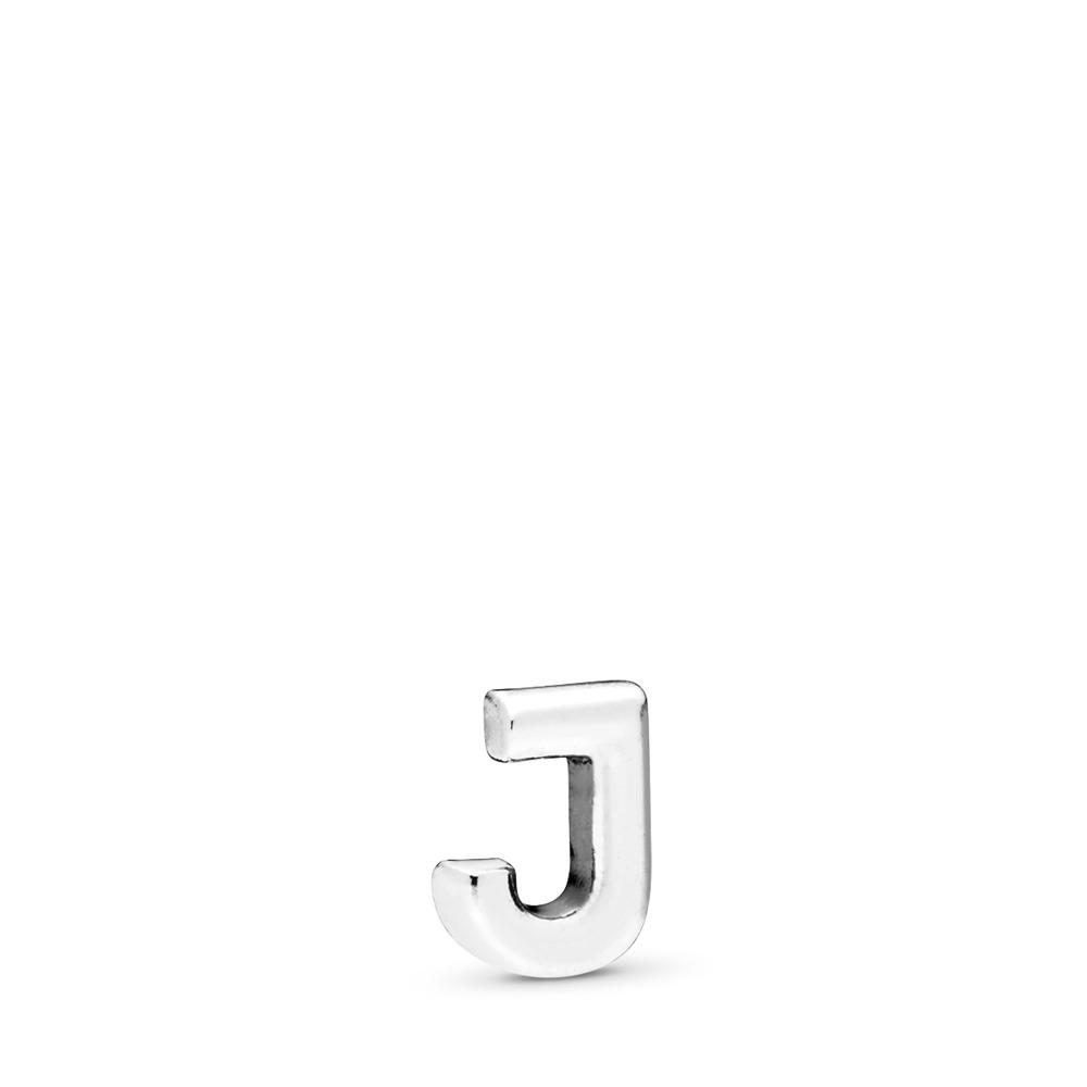Letter J Petite Charm, Sterling silver - PANDORA - #797328