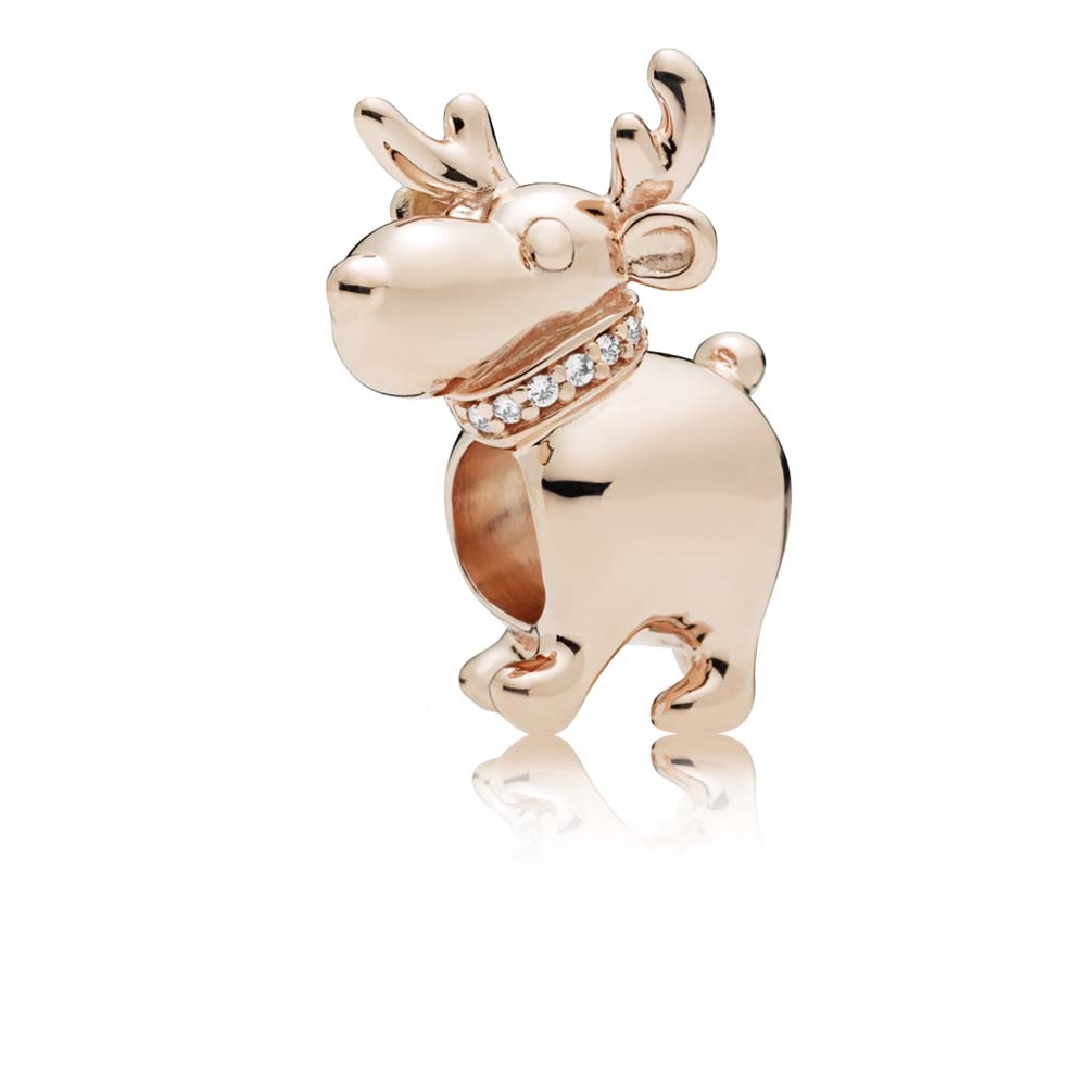 Happy Reindeer Charm, PANDORA Rose™