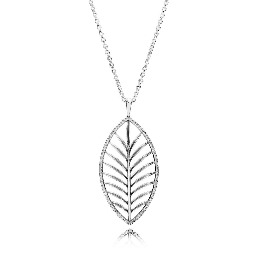 Palmier majestueux, cz incolore, Argent sterling, Aucun autre matériel, Aucune couleur, Zircon cubique - PANDORA - #390370CZ