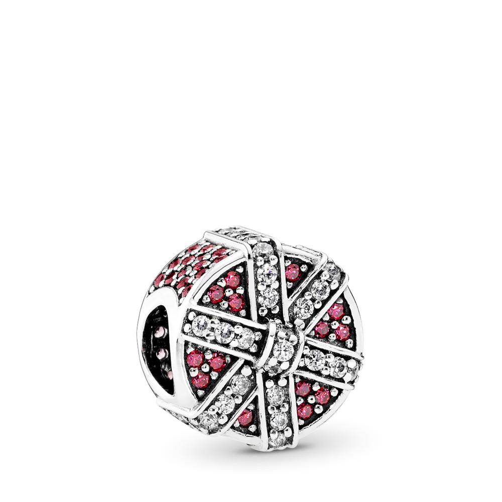 Cadeau étincelant, CZ rouge et incolore, Argent sterling, Aucun autre matériel, Rouge, Zircon cubique - PANDORA - #792006CZR