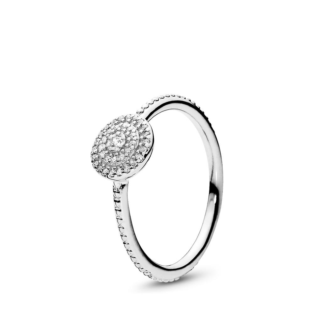 Radiant Elegance, Clear CZ, Sterling silver, Cubic Zirconia - PANDORA - #190986CZ