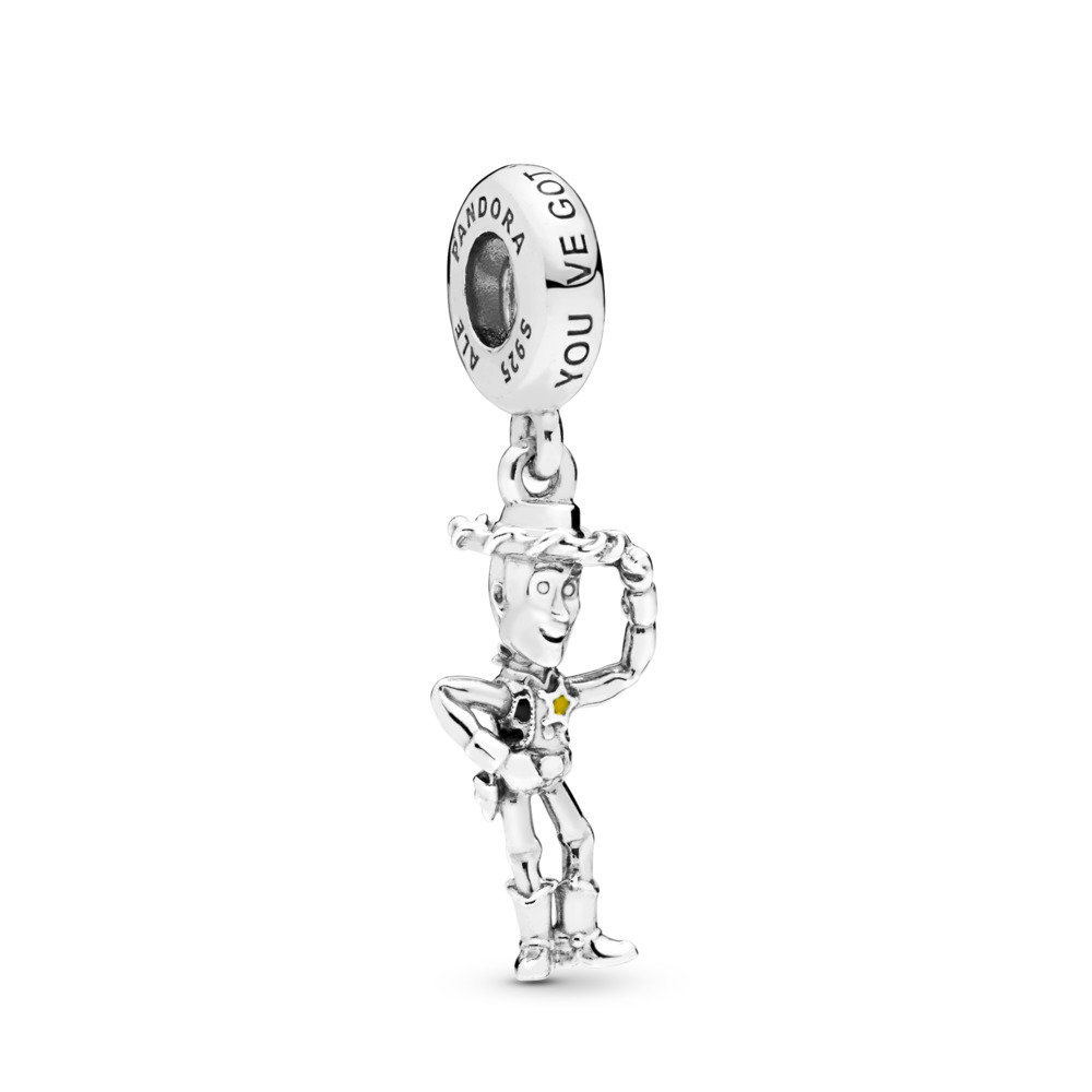 Charm-pendentif Disney Pixar, Woody d'Histoire de jouets, Argent sterling, émail, Aucune pierre - PANDORA - #798041ENMX