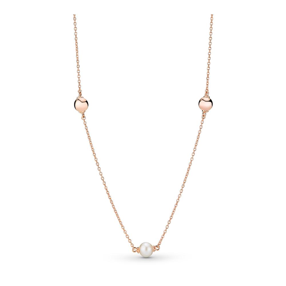 Collier Perles contemporaines, PANDORA Rose, PANDORA ROSE, Aucun autre matériel, Blanc, Perle de culture d'eau douce - PANDORA - #387550P
