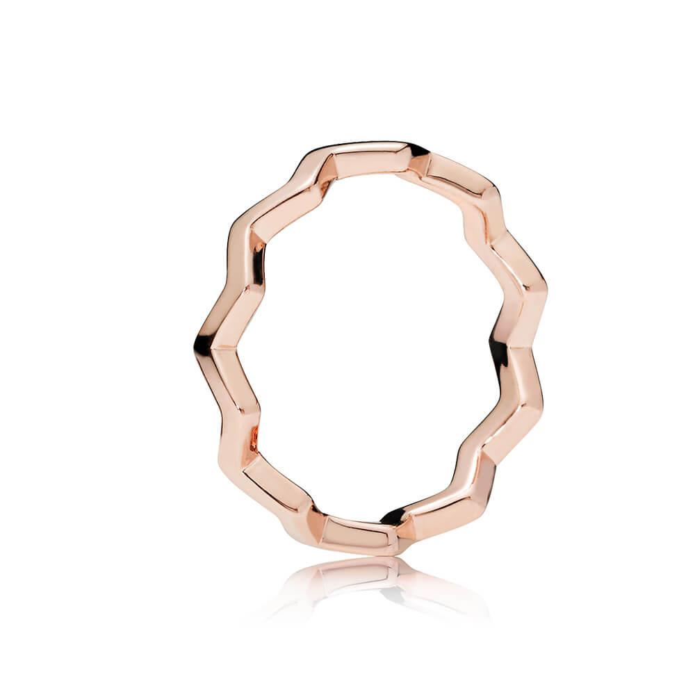 Timeless Zigzag Ring, PANDORA Rose™