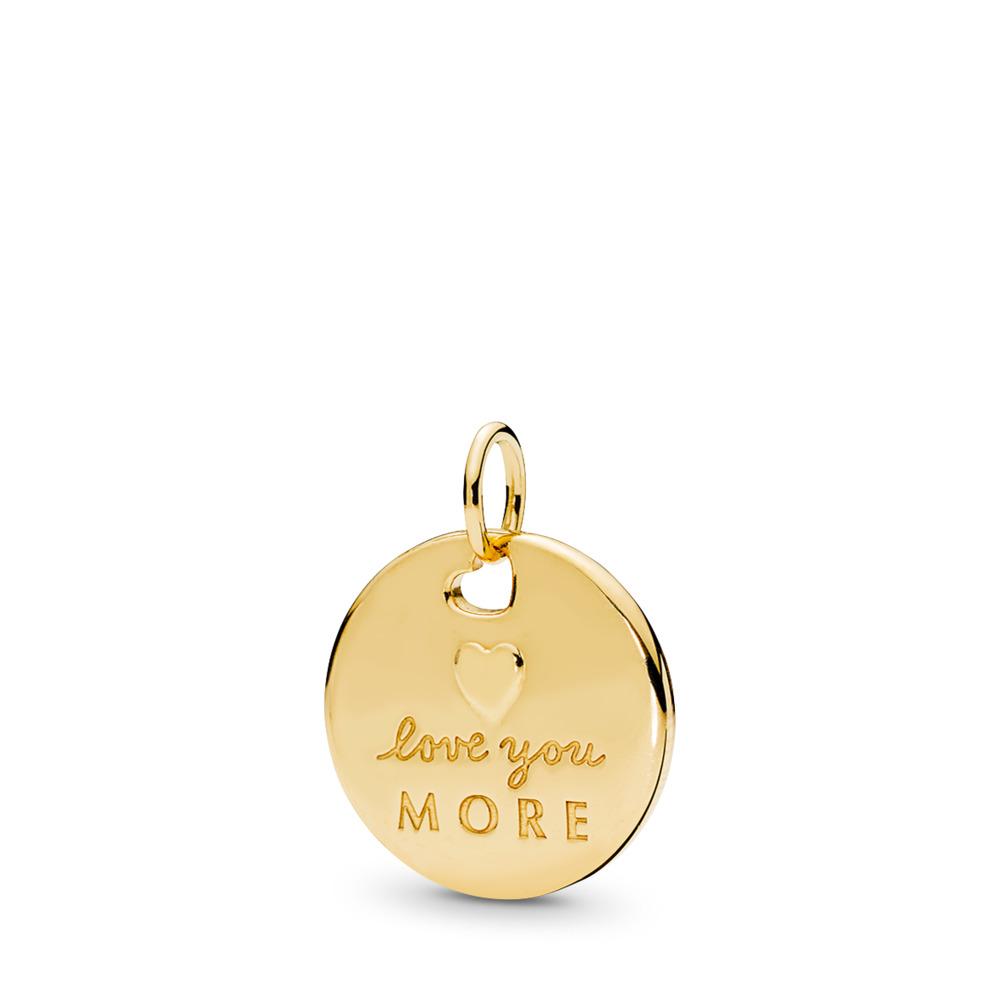 Love Statement Pendant, PANDORA Shine™ & Silver Enamel, 18ct gold-plated sterling silver, Enamel, Silver - PANDORA - #367351EN23