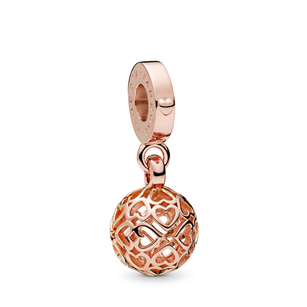 Charm pendentif Cœurs en harmonie, PANDORARose, PANDORA ROSE, Aucun autre matériel, Aucune couleur, Aucune pierre - PANDORA - #787255