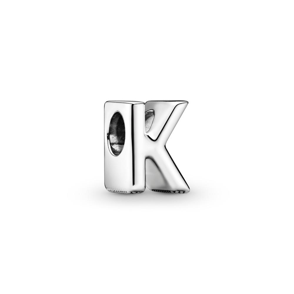 Letter K Charm, Sterling silver - PANDORA - #797465