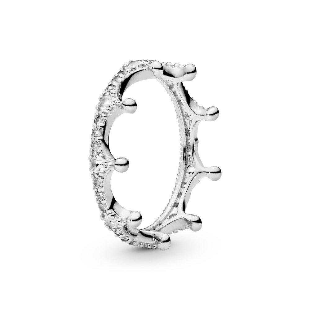 Enchanted Crown Ring, Clear CZ, Sterling silver, Cubic Zirconia - PANDORA - #197087CZ