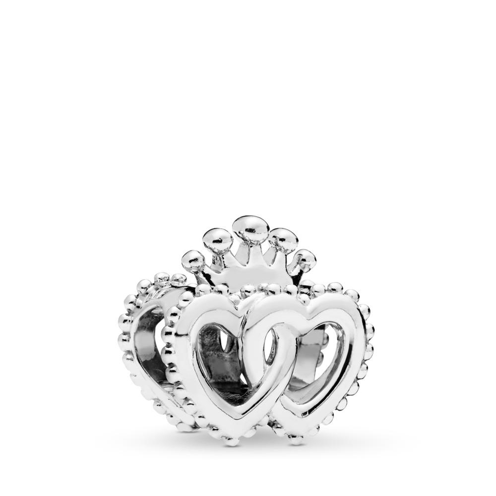 Charm Cœurs royaux unis, Argent sterling, Aucun autre matériel, Aucune couleur, Aucune pierre - PANDORA - #797670