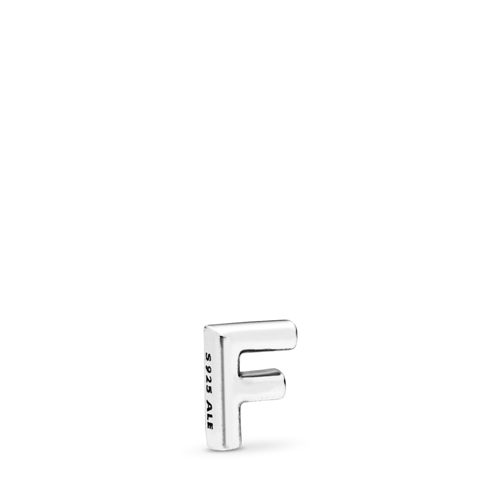 Letter F Petite Charm, Sterling silver - PANDORA - #797323