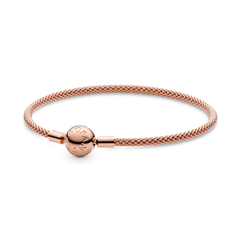PANDORA Rose™ Mesh Bracelet, PANDORA Rose - PANDORA - #586543