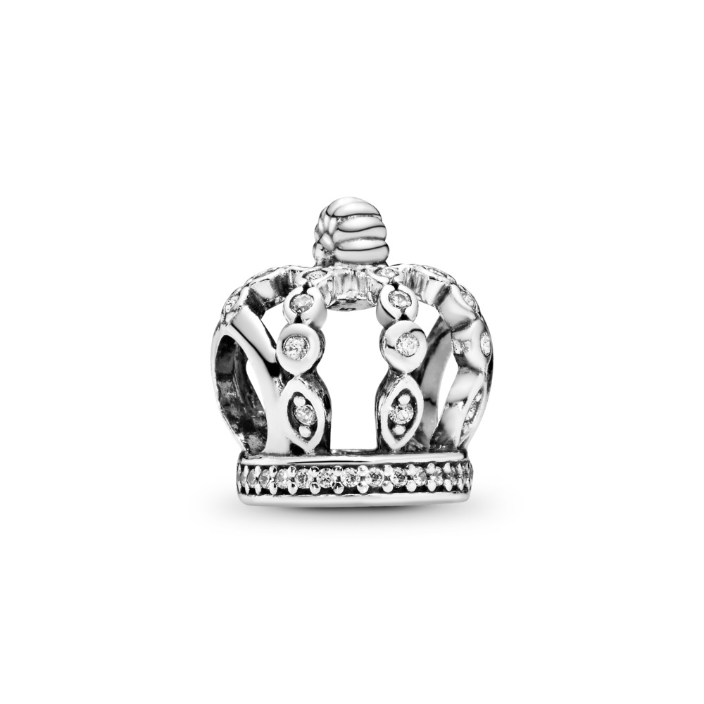 Fairytale Crown, Clear CZ, Sterling silver, Cubic Zirconia - PANDORA - #792058CZ