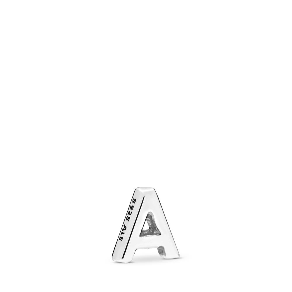 Letter A Petite Charm, Sterling silver - PANDORA - #797318