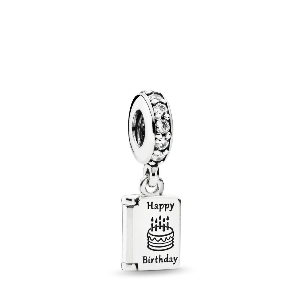 Birthday Wishes, Clear CZ, Sterling silver, Cubic Zirconia - PANDORA - #791723CZ