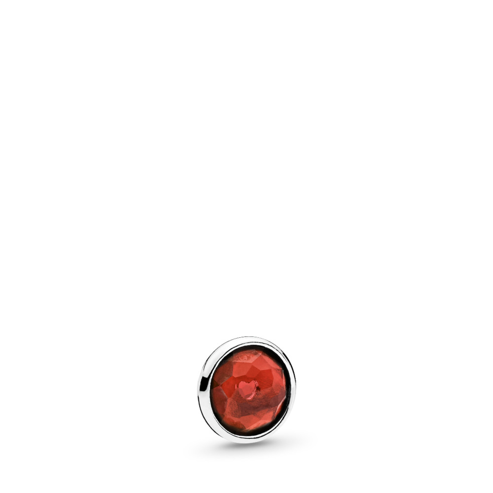January Droplet Petite, Garnet, Sterling silver, Garnet - PANDORA - #792175GR