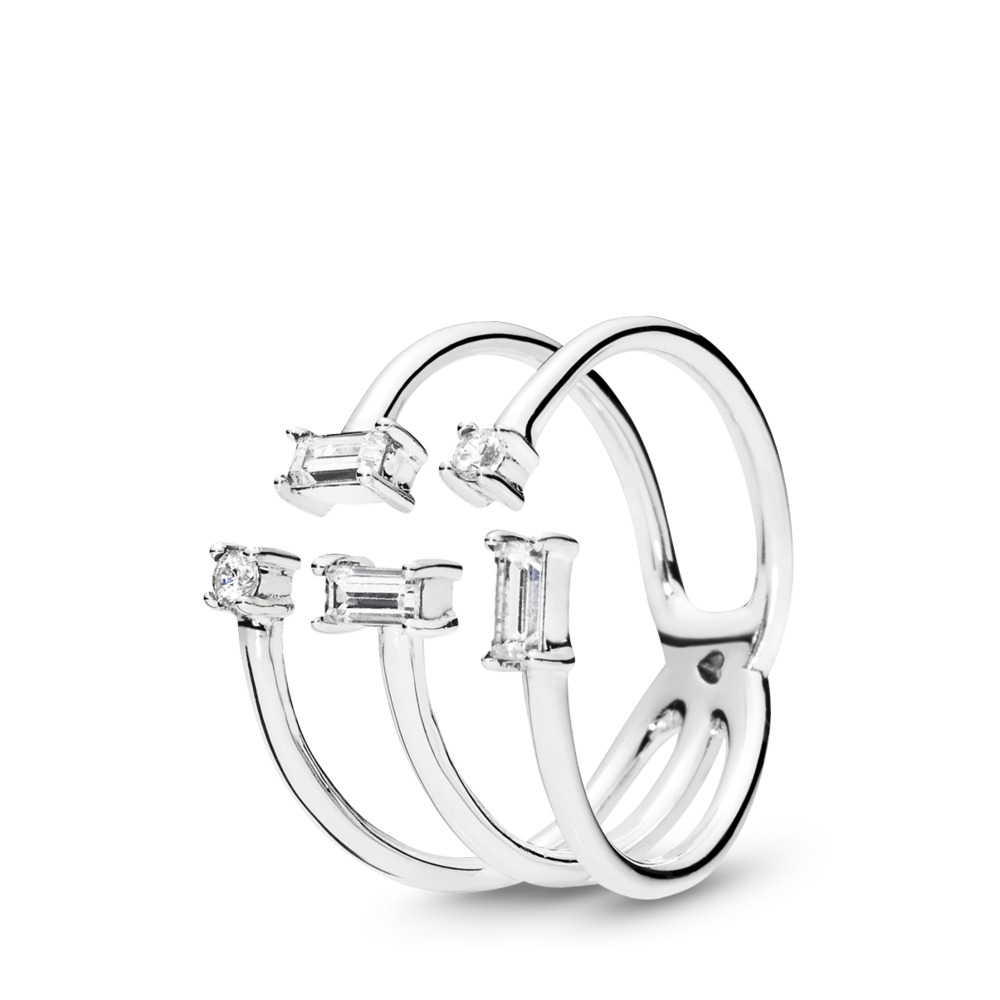 Shards of Sparkle Ring, Sterling silver, Cubic Zirconia - PANDORA - #197527CZ
