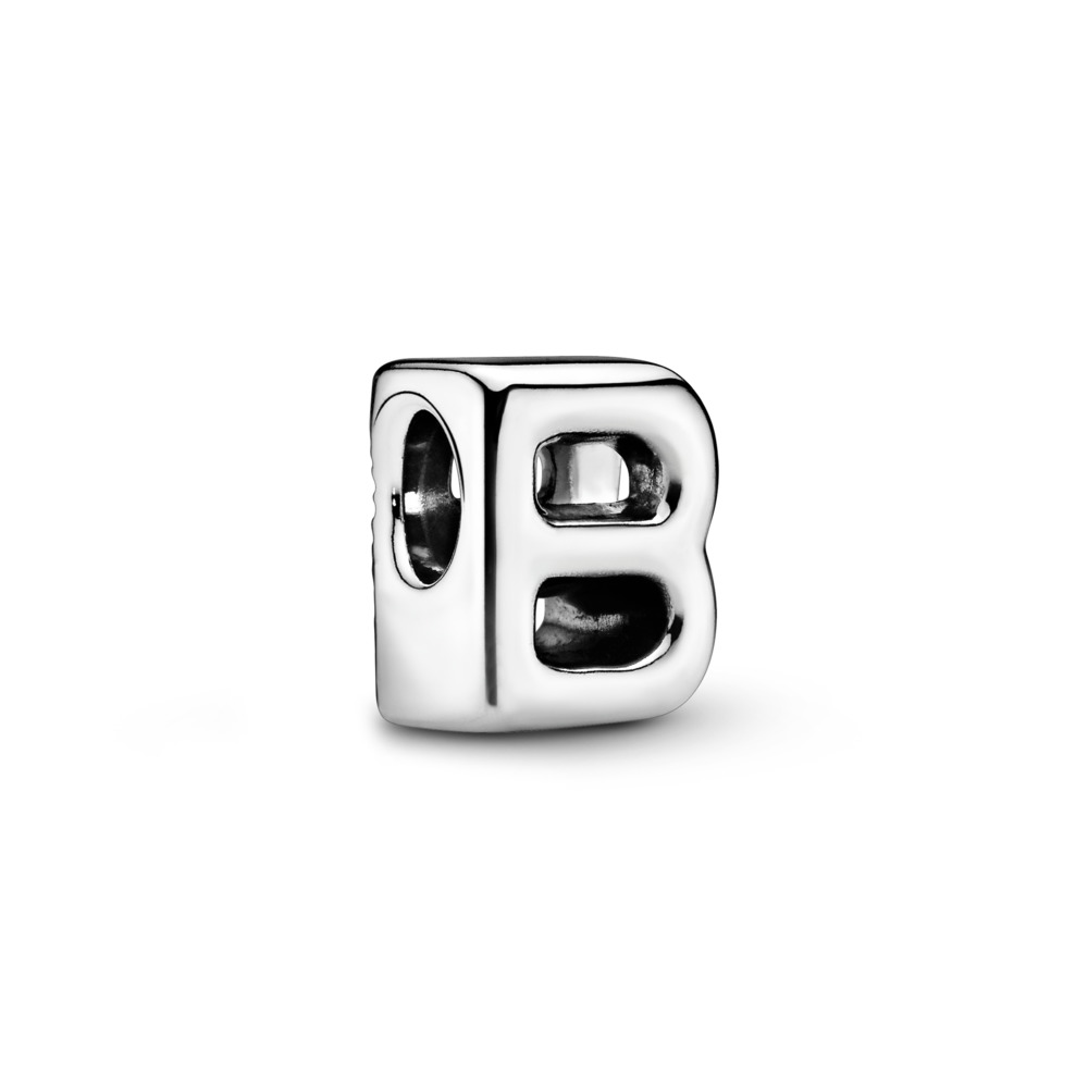 Letter B Charm, Sterling silver - PANDORA - #797456