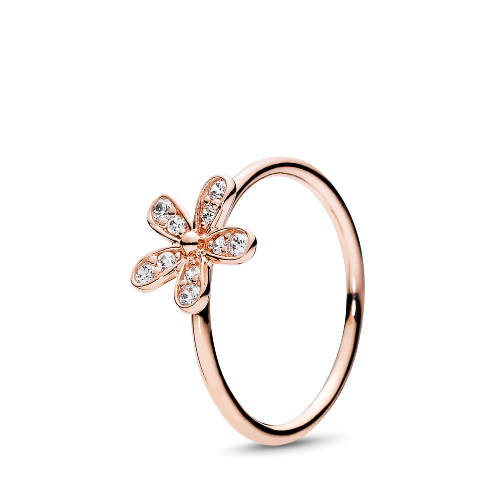 Dazzling Daisy, PANDORA Rose™ & Clear CZ, PANDORA Rose, Cubic Zirconia - PANDORA - #180932CZ