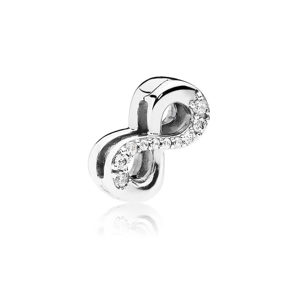 PANDORA Reflexions™ Sparkling Infinity Charm, Clear CZ