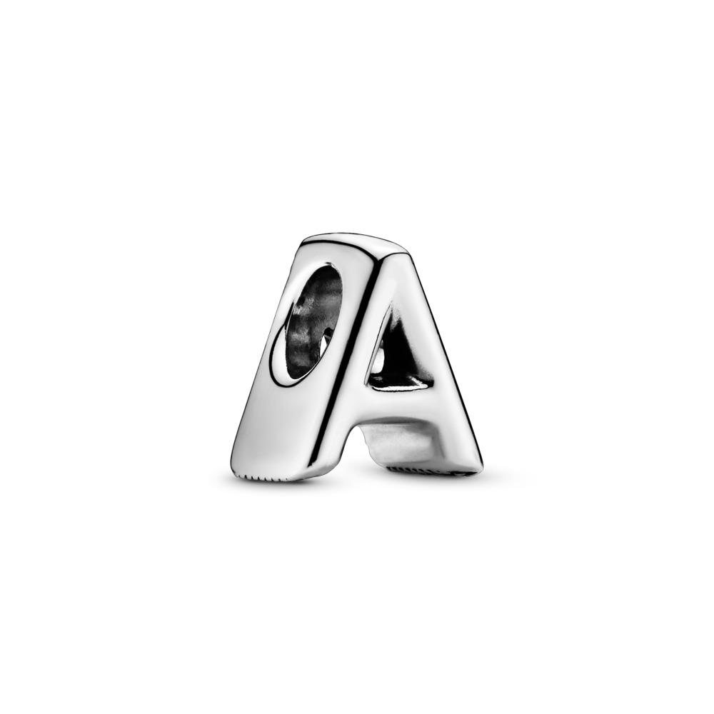Charm Lettre A, Argent sterling, Aucun autre matériel, Aucune couleur, Aucune pierre - PANDORA - #797455