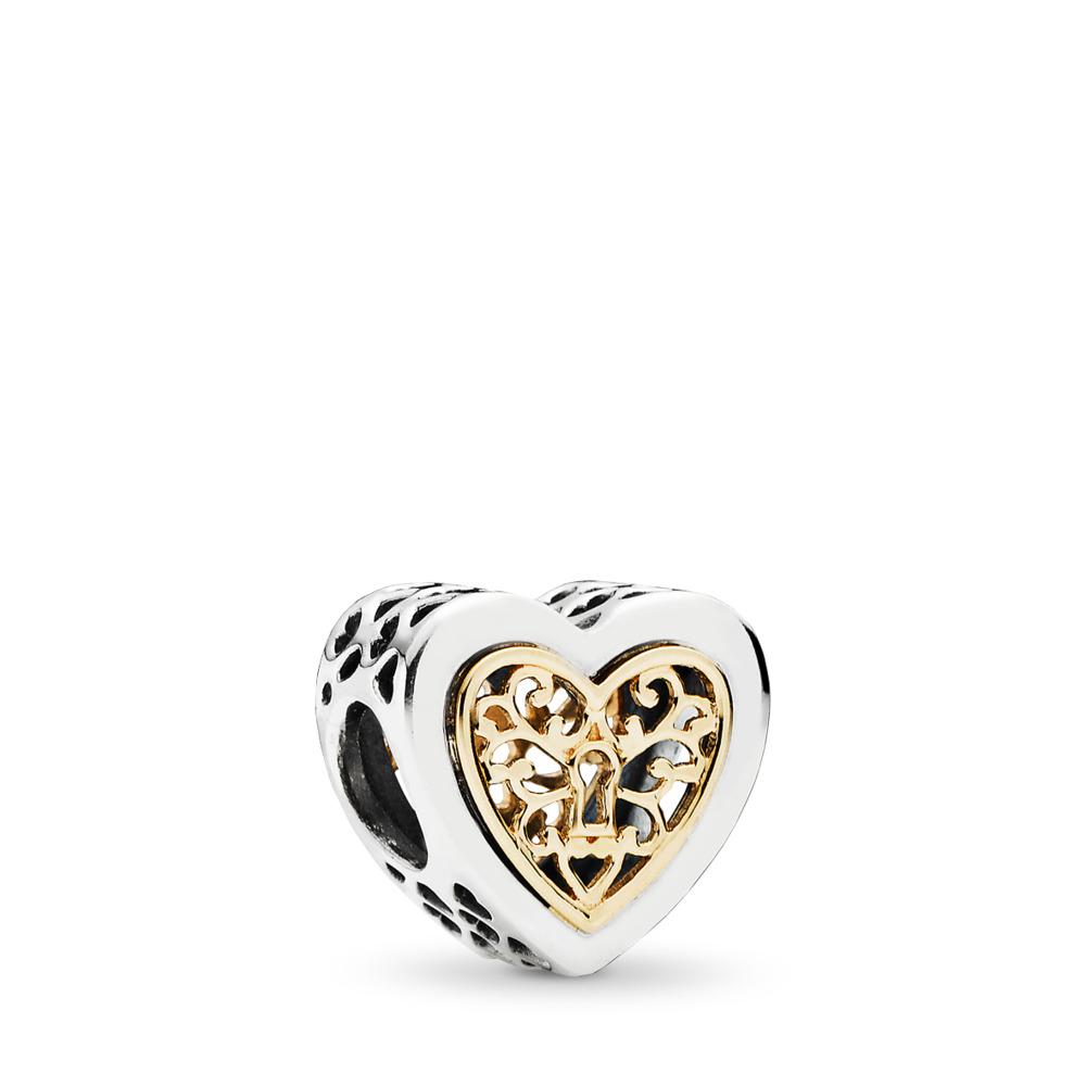 La clé de l'amour, Deux Tons, Aucun autre matériel, Aucune couleur, Aucune pierre - PANDORA - #791740
