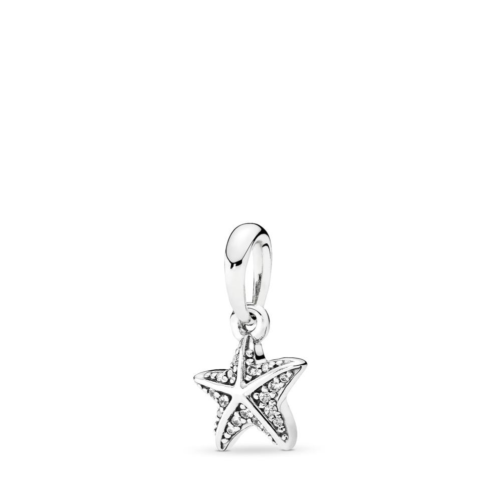 Étoile de mer tropicale, cz incolore, Argent sterling, Aucun autre matériel, Aucune couleur, Zircon cubique - PANDORA - #390403CZ
