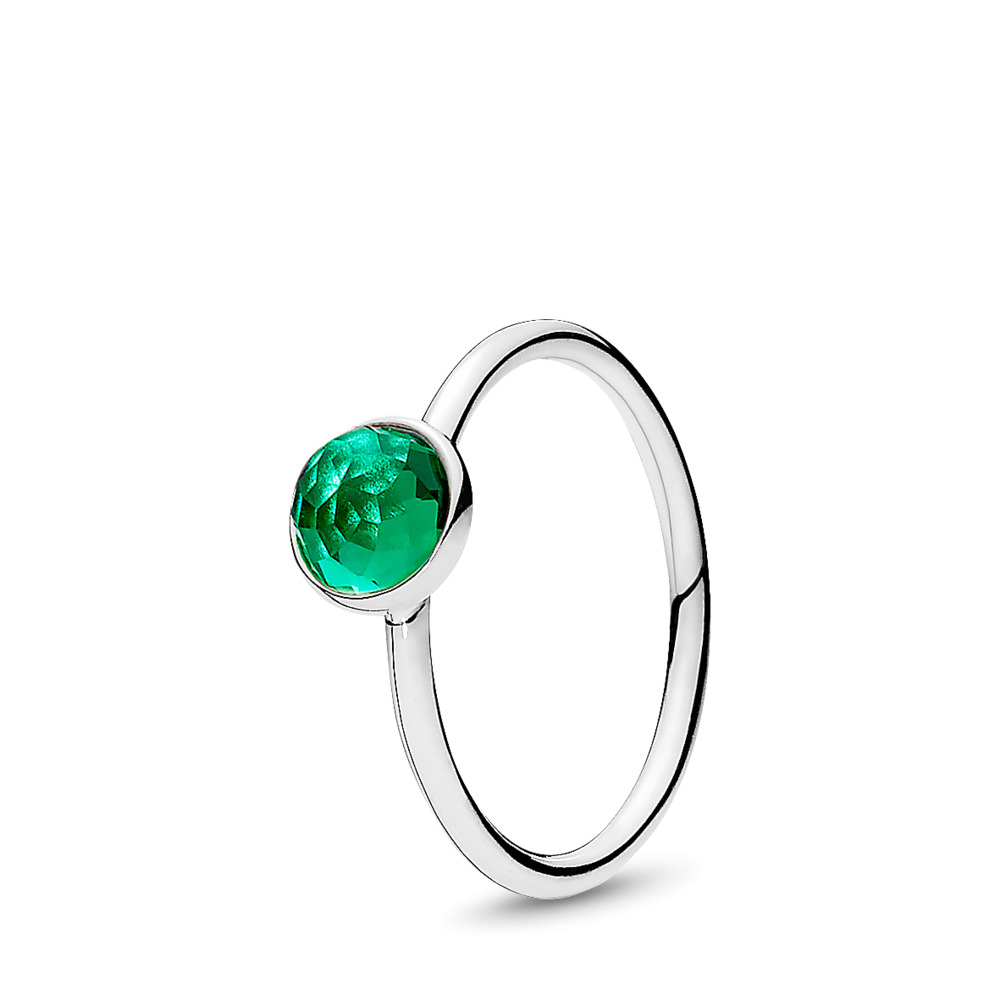 May Droplet, Royal-Green Crystal, Sterling silver, Green, Crystal - PANDORA - #191012NRG