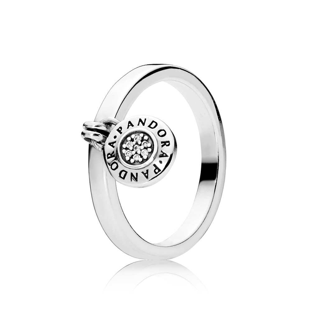 PANDORA Signature Ring, Clear CZ
