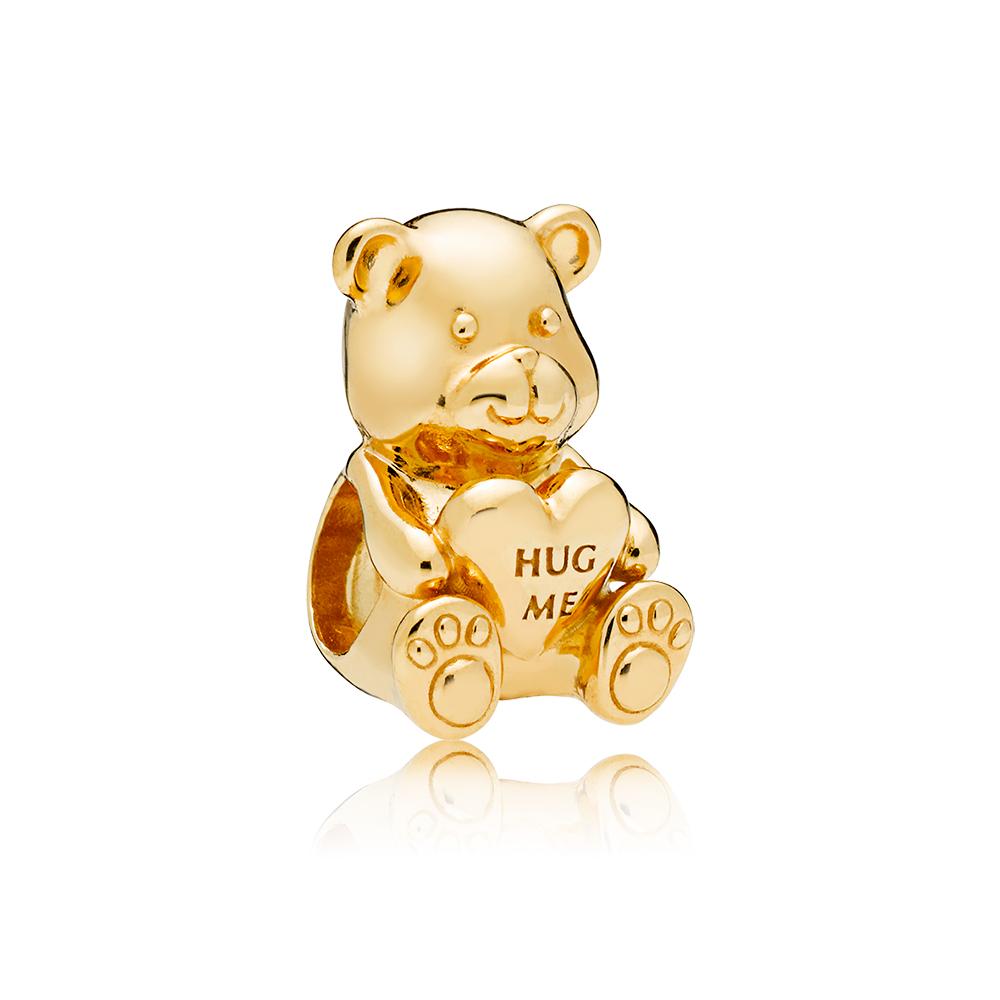 Theodore Bear Charm, PANDORA Shine™