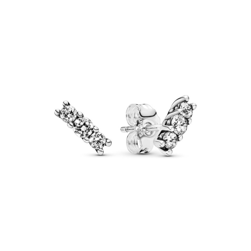 Sparkling Elegance, Clear CZ, Sterling silver, Cubic Zirconia - PANDORA - #290725CZ