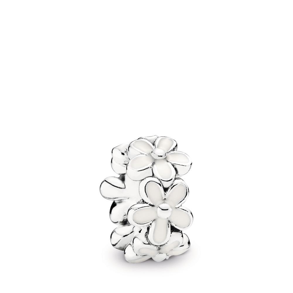 Champ de charmantes marguerites, émail blanc, Argent sterling, émail, Blanc, Aucune pierre - PANDORA - #791495EN12