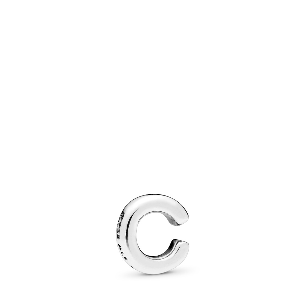 Mini Lettre C, Argent sterling, Aucun autre matériel, Aucune couleur, Aucune pierre - PANDORA - #797320