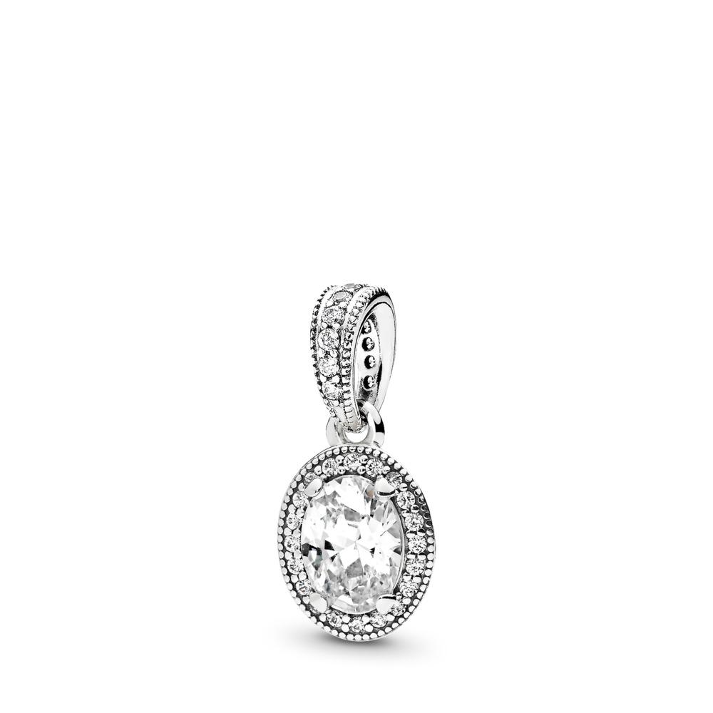Vintage Elegance, Clear CZ, Sterling silver, Cubic Zirconia - PANDORA - #396246CZ