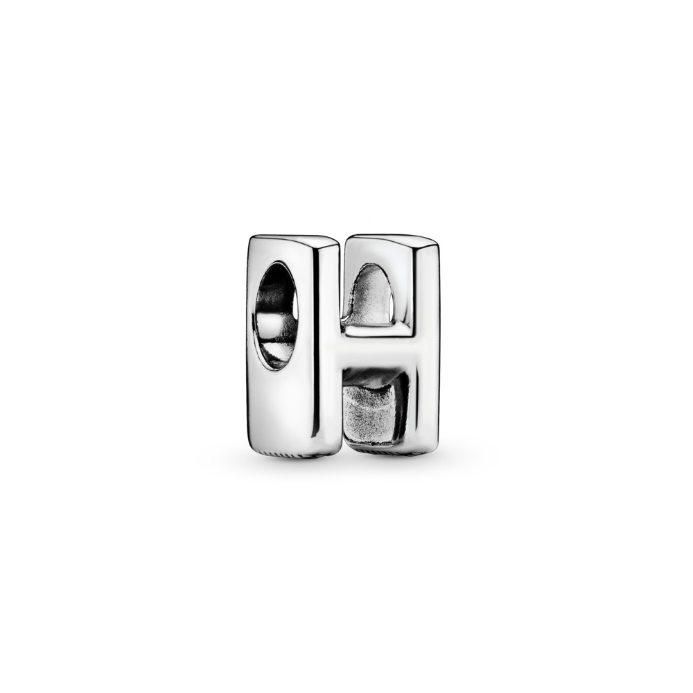 Letter H Charm, Sterling silver - PANDORA - #797462