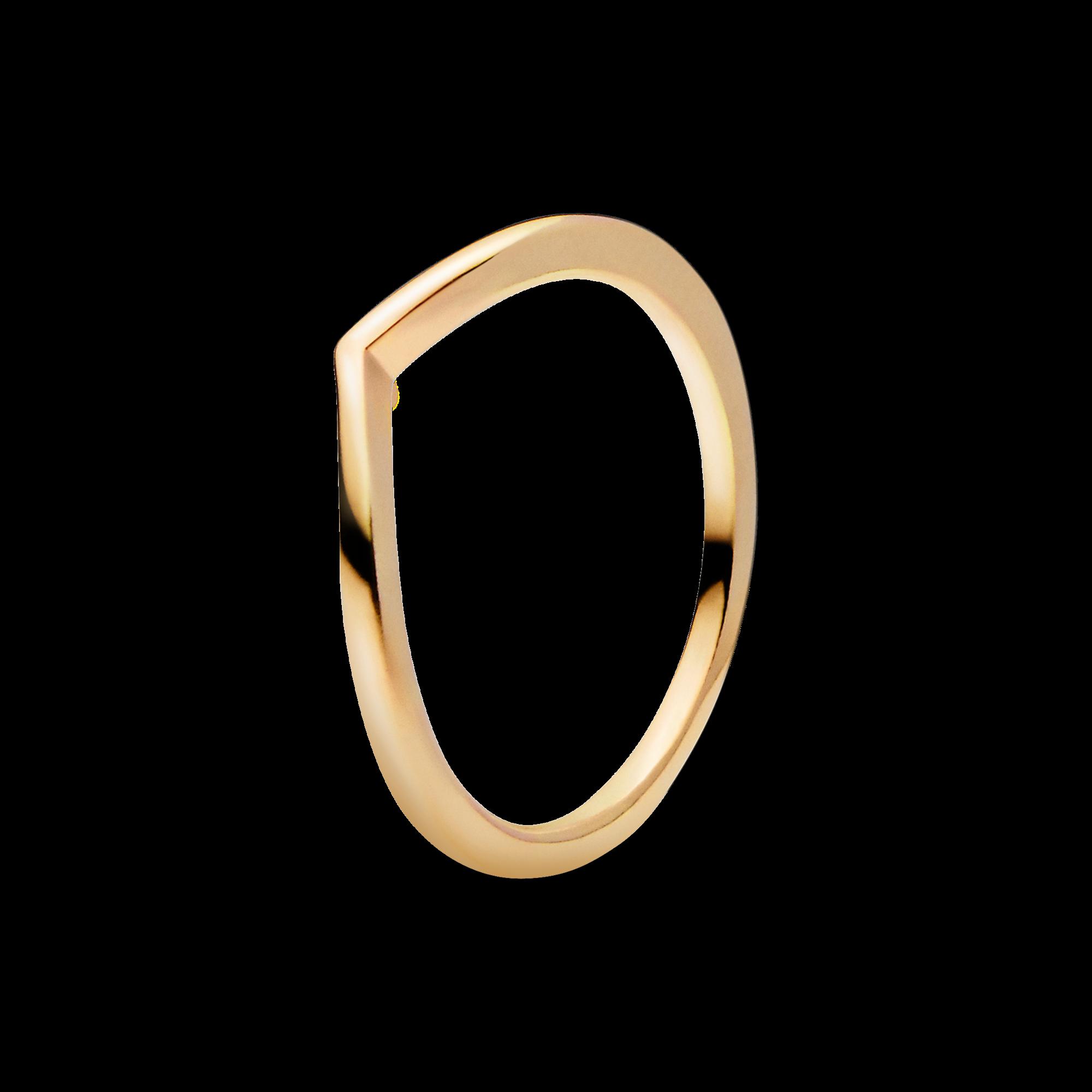 Polished Wishbone Ring