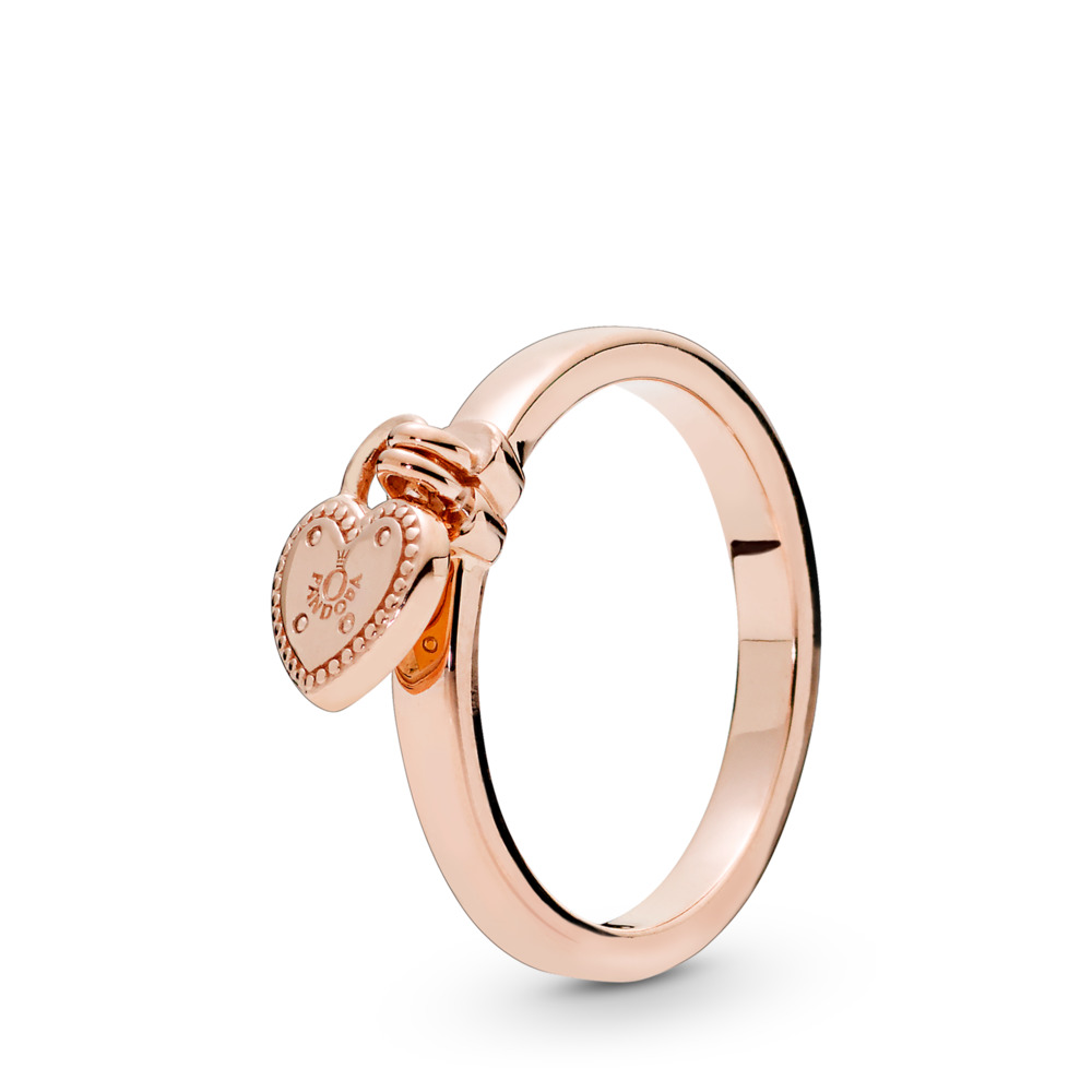Love Lock Ring, PANDORA Rose - PANDORA - #186571