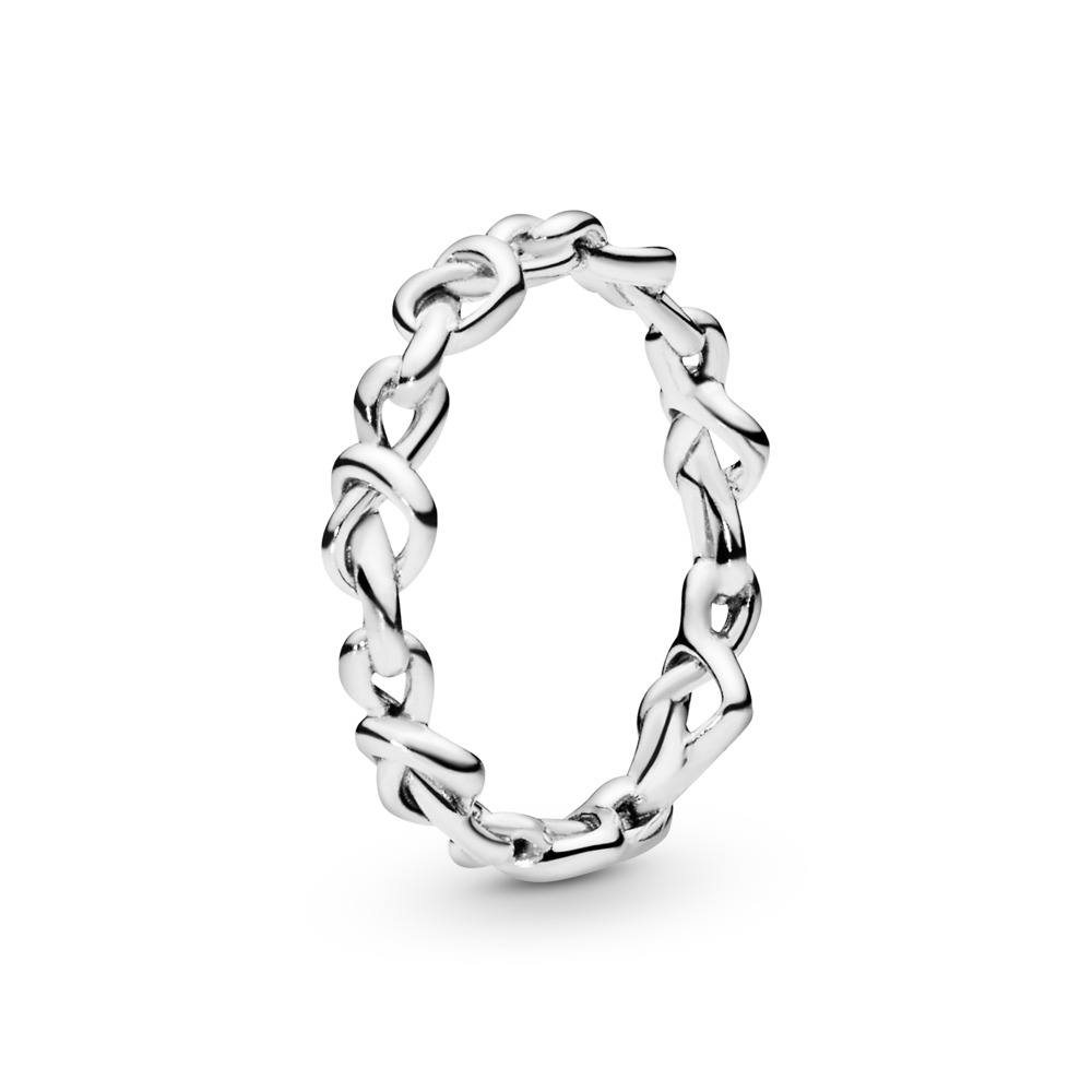 Knotted Hearts Ring, Sterling silver - PANDORA - #198018