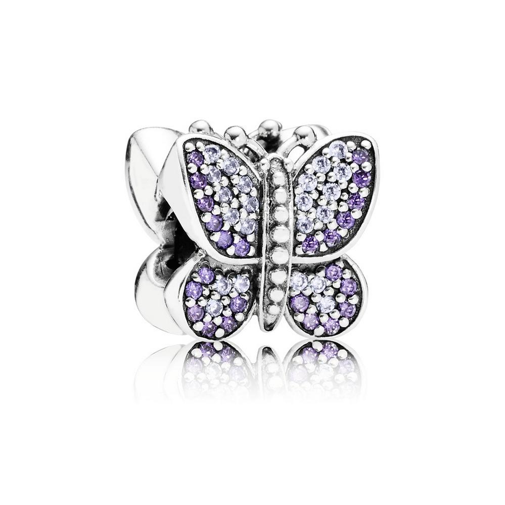 Sparkling Butterfly, Purple CZ