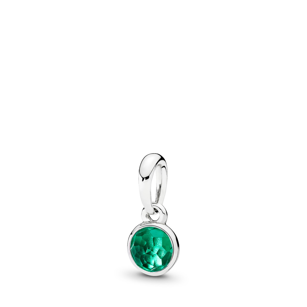 May Droplet, Royal-Green Crystal, Sterling silver, Green, Crystal - PANDORA - #390396NRG