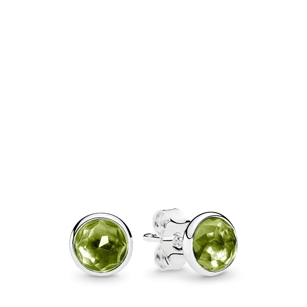 August Droplets, Peridot, Sterling silver, Green, Peridot - PANDORA - #290738PE