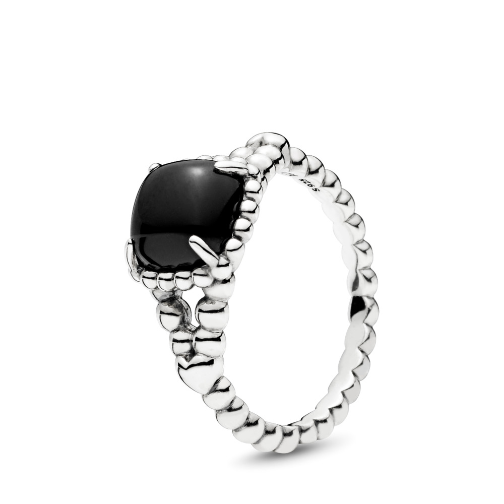 55db6998c Vibrant Spirit Ring, Black Crystal, Sterling silver, Black, Crystal -  PANDORA -