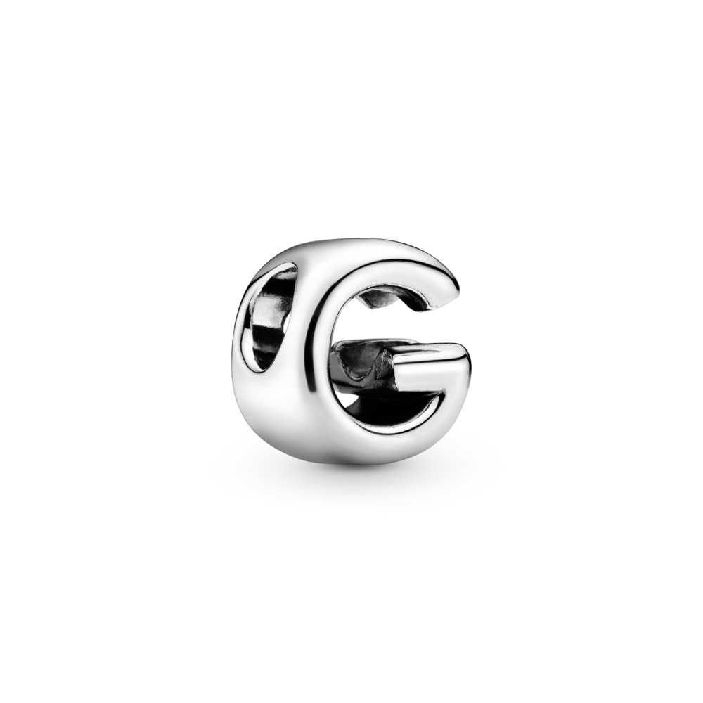 Letter G Charm, Sterling silver - PANDORA - #797461